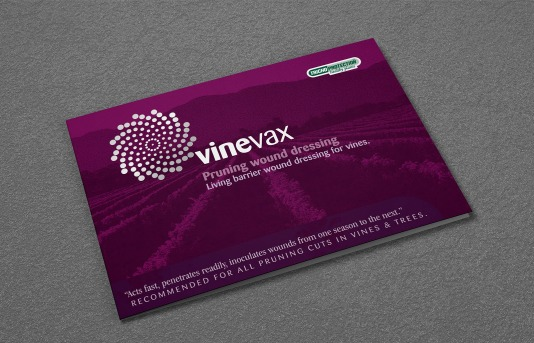 Agrimm trichoprotection, Vinevax, Pruning wound dressing, a5 landscape, brochure,