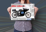 Eldee 2, Velocette, a lightweight of distinction, launch poster, infographic, A3, mockup
