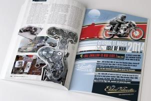 Eldee Velocette, Isle of Man Classic TT 2014, Bill Swallow, full page advertisment, Biker Rider New Zealand Magazine