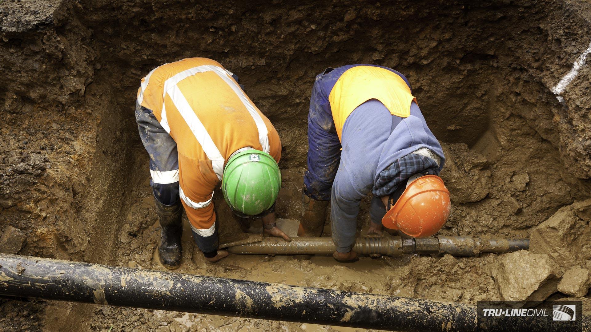 Horizontal Directional Drilling, Tru-Line Civil, Akaroa, documentary, photography, Akaroa Water Supply Stage 3, Reticulation Upgrade