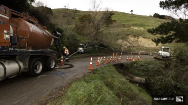 Horizontal Directional Drilling, Tru-Line Civil, Akaroa, documentary, photography, Akaroa Water Supply Stage 3, Reticulation Upgrade, Vermeer HDD,