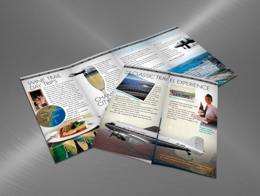 Pionair Australia, Classic DC3 aviation, Sydney & Beyond, 4-panel, gate-fold, DLE tourism brochure