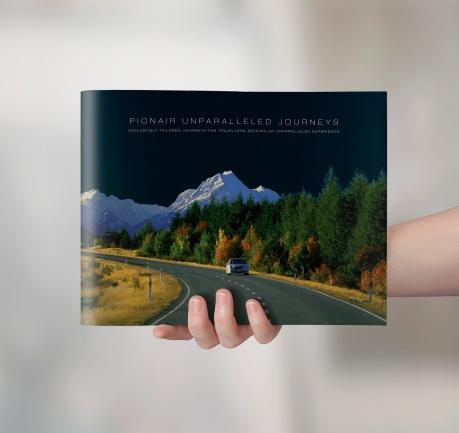 Pionair Unparalleled Journeys, affluent travel, inbound tourism booklet, brochure
