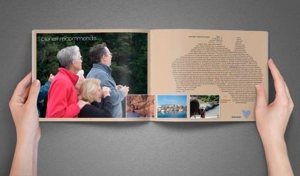 Pionair Unparalleled Journeys, affluent travel, inbound tourism booklet, brochure, typography