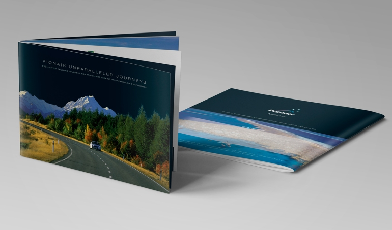 Pionair Unparalleled Journeys, affluent travel, inbound tourism booklet, brochure