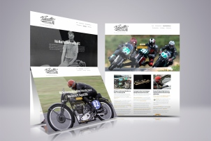 Velocette Racing New Zealand website, showcase, brand & identity systems design, photography, promotional design and advertising, web design