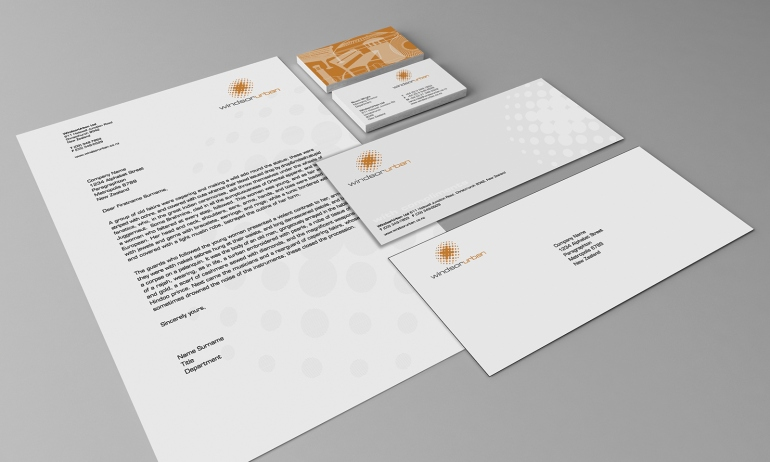 brand, logo, stationery, letterhead, business card, with compliments slip, envelope