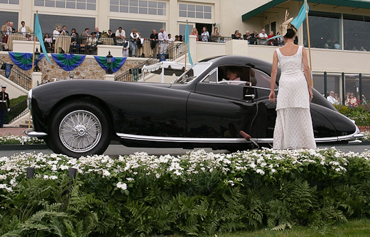 1947 Talbot_Lago T26 coupe at Pebble Beach Concours d'Elegance. First in class, Pebble Beach Concours d'Elegance, California, USA, 2005.