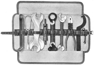 Velocette, classic motorcycle, toolkit, 1923