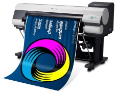 Absolute proof brand printout from wide-format inkjet