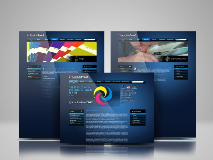 Absolute-Proof website 2008 redesign