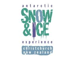 Antarctic Snow & Ice experience, Christchurch, New Zealand, logo.