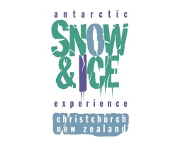 Antarctic Snow & Ice experience, Christchurch, New Zealand, logo. Brands for New Zealand organisations, Christchurch, New Zealand.