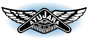 After BRAND-AID logo restoration. Atujara Motorcycle Club logo is crisp and easily read. The intention of the original commercial artist, who laboured in the 1950s to create this iconic Australian emblem has been honoured.