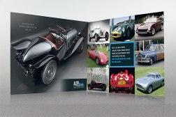 "Auto Restorations capabilities brochure first gatefold ""spread""."