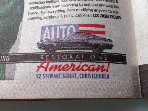 Auto Restorations American! Sub-brand.
