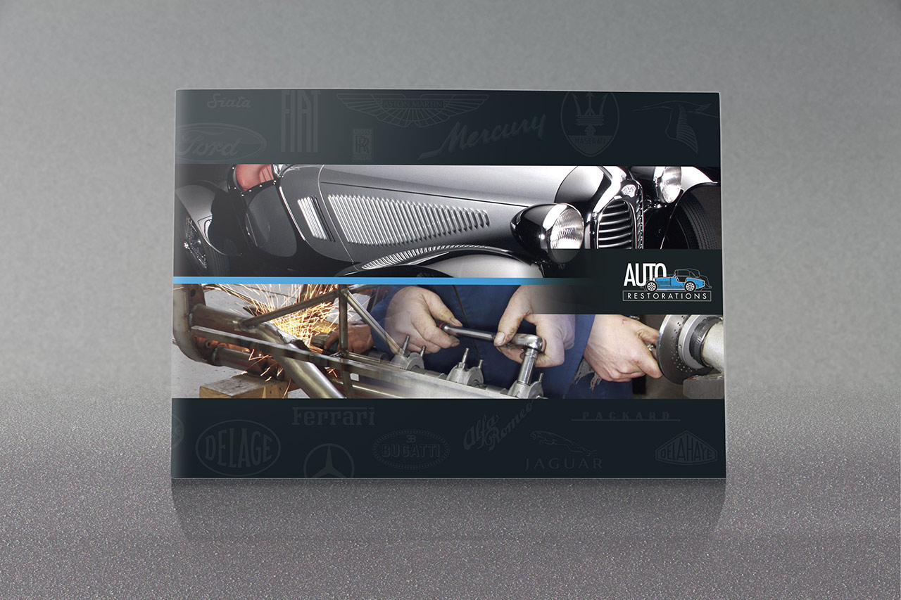 Auto Restorations A5 brochure front cover