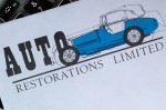 Auto Restorations' original 1973 letterhead, detail of historic logo artwork. Brands for New Zealand companies, Christchurch, New Zealand.