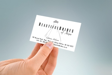 Beautiful Brides of Hope logo and business card