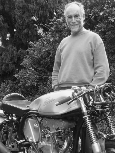 Bill Swallow with Eldee Velocette portrait