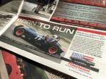 Baldwin Mercury 'Born to Run' quarter page horizontal advertisment in 'Petrolhead' magazine. Ad campaign launched a new addition to Auto Restorations brand, and the website, 'Auto Restorations American'.