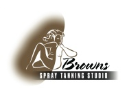 Browns Spray Tanning Studio logo. Logo for a start-up Spray Tanning Business. Brands for New Zealand businesses, Christchurch.