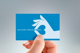 Reverse of Decima Health business card front