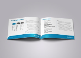 "Inside spread from the Decima corporate style guide, page headings read ""decima colour palette"", ""corporate fonts"". Brand use document, Graphic Standards guide."