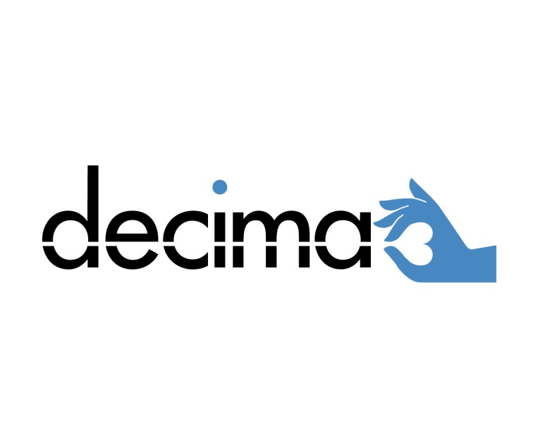 Decima, type and symbol logo