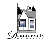 Drummonds on Wanaka logo. Image and type logo, and logotype. Brands for New Zealand businesses, Wanaka.