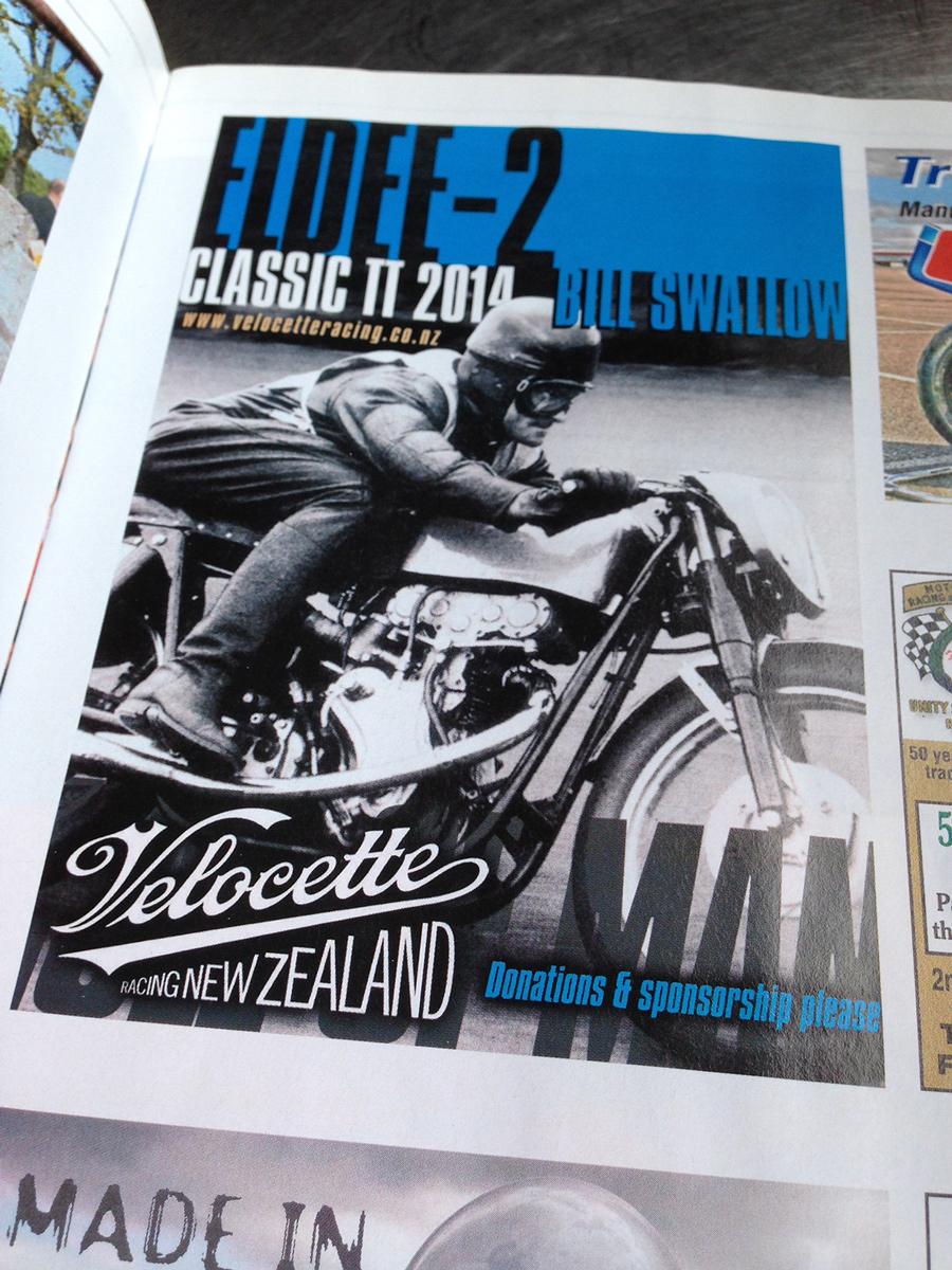 Eldee-2 quarter page advert, Classic Racer Magazine