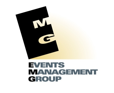 EMG: Events Management Group logo.