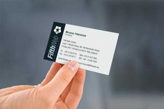 FifthWeb logo and business card