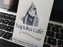 Business cards magentadot brands novel pop up hapuku cafe and lodge logo business card a business card and colourmoves