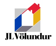 JL Völundur logo. JL Völundur is a hardware and building supplies chain of stores in Reykjavik, Iceland, hence the symbol which is a visual double-entendre of the interior / exterior of a little house. JL Völundu is the equivalent to Placemakers or Mitre 10 in New Zealand. Brands for Icelandic businesses, Reykjavík.