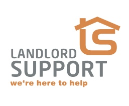 Landlord Support, we're here to help logo. Brands for New Zealand businesses, Christchurch.