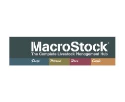 MacroStock - the complete livestock management hub logo. MacroStock Livestock Management Software System logo. Macrostock is designed to make recording of livestock data easy and accessible to all farming enterprises. Company renaming and corporate identity design. Renaming New Zealand businesses. Brands for New Zealand / International businesses, Timaru.