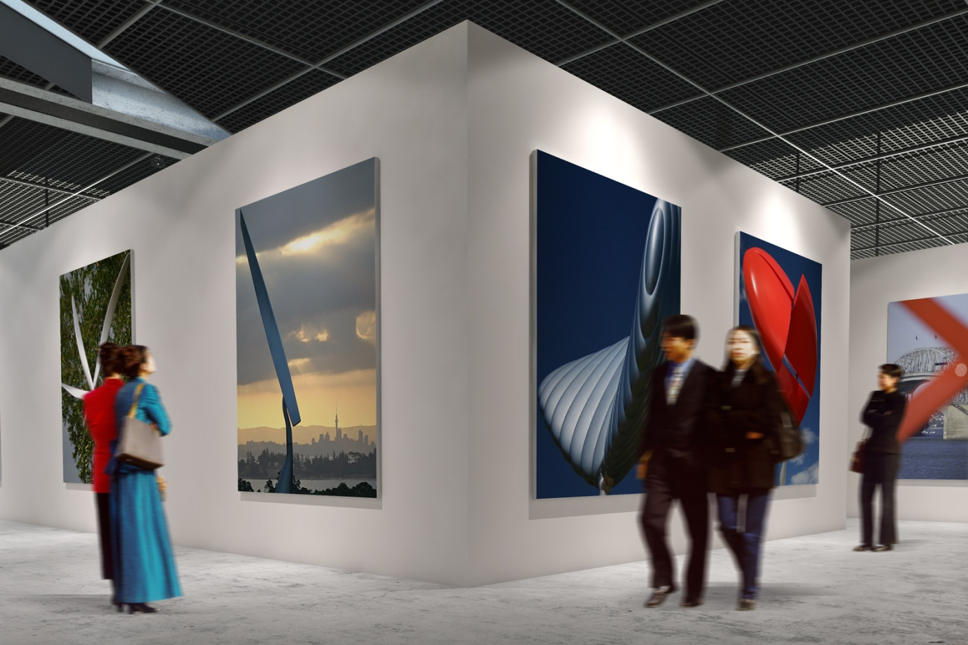 Gallery mock-up of shots from the Kinetics portfolio.