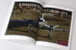 "Pionair, ""A Truly Great Aircraft is something of a destination in itself"" Golden Era of Air Travel / Circumnavigation of Australia by Classic DC3 Airtour double page magazine advertisement. The third ad in a 3 ad campaign."