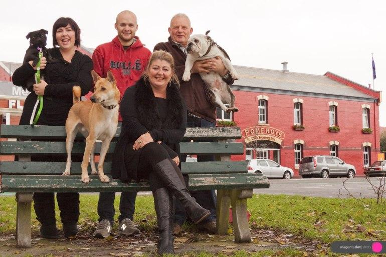 Pomeroy's family portrait, and best friends, 2008.