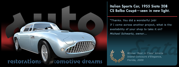 Graphic Italian Sports Car, 1955 Siata Balbo Coupe slide from the 'Auto Restorations—automotive dreams' slideshow