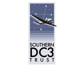 Southern DC3 Trust logo. Brands for New Zealand organisations, Christchurch, New Zealand.