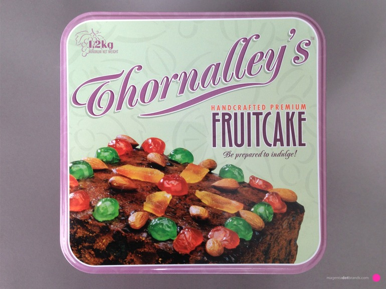Thornalley's Handcrafted Premium Fruitcake. Be prepared to indulge! Full colour printed metal tin.