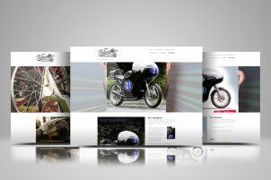 Showcase of three pages from the Velocette Racing New Zealand website and blog