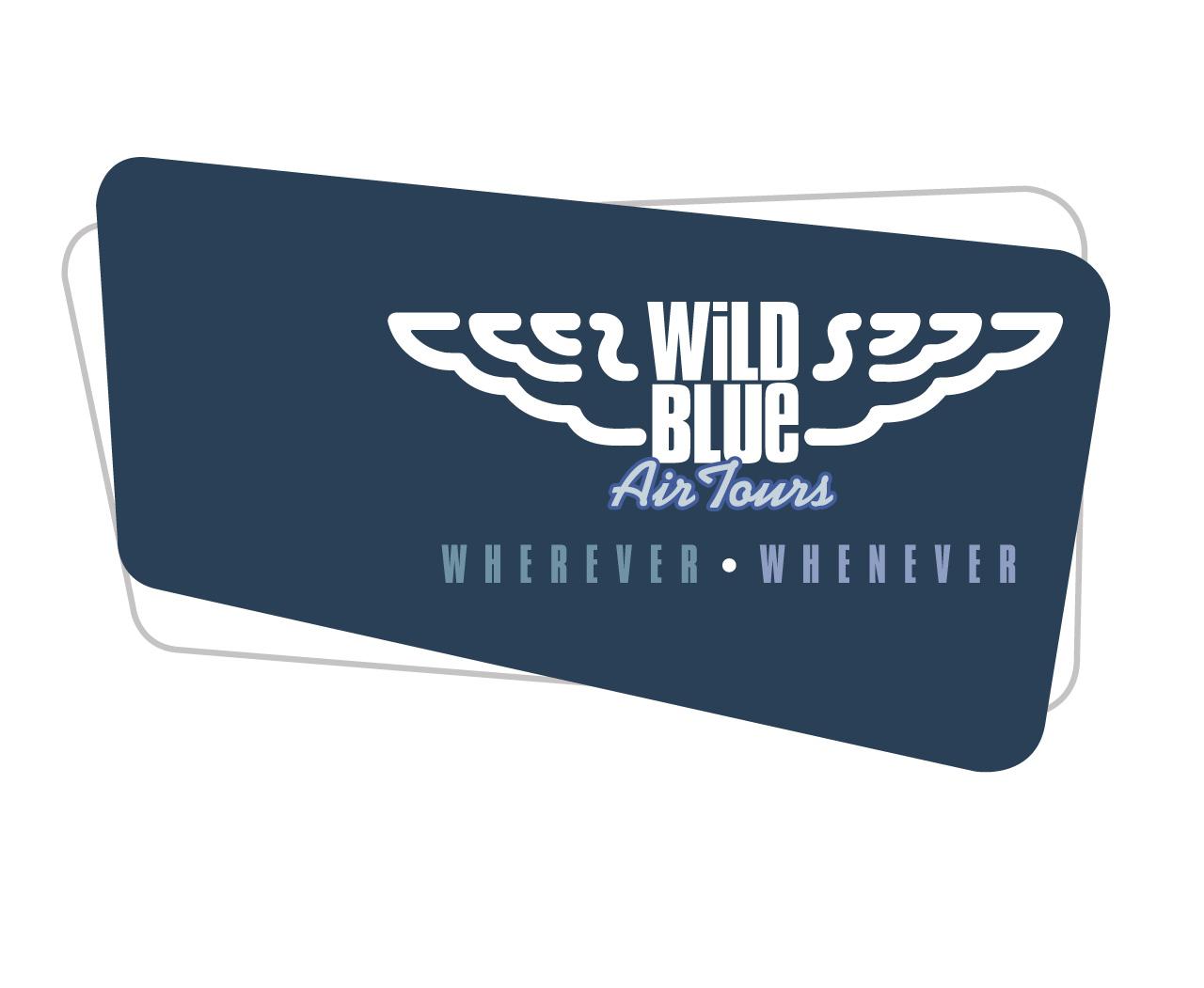 Wild Blue Air Tours—Wherever, Whenever Logo