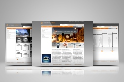 Windsor-Urban web design showcase, three pages from the site displayed in an overlapping composition.