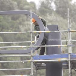 Zephyrometer wind sculpture reinstallation