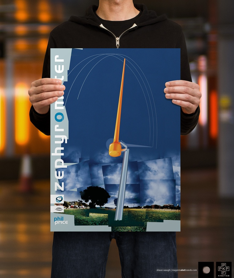 Visual prepared of Phil Price'winning entry into Meridien Energy's competition for a public sculpture on the foreshore of Evans Bay, adjacent to the airport.