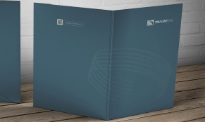 Exterior view of Tru-Line Civil, document folder / presentation folder presented as a photorealistic visual / mock-up