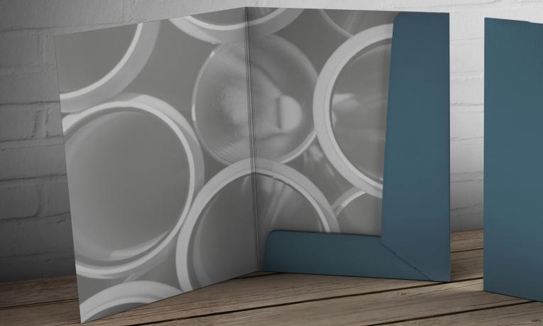 Interior view of Tru-Line Civil, document folder / presentation folder presented as a photorealistic visual / mock-up